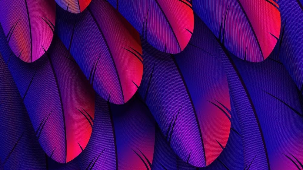 Purple feathers wallpaper