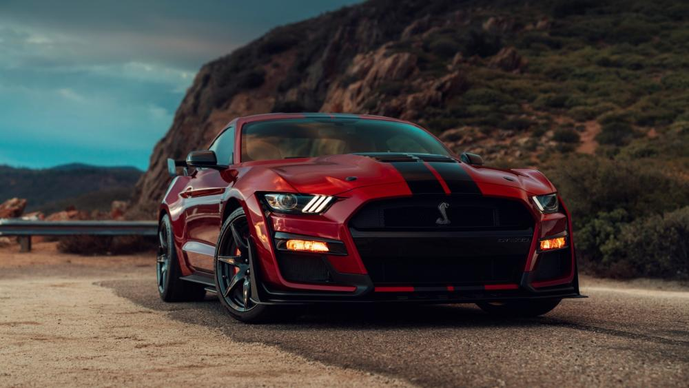 Red Ford Mustang Shelby wallpaper