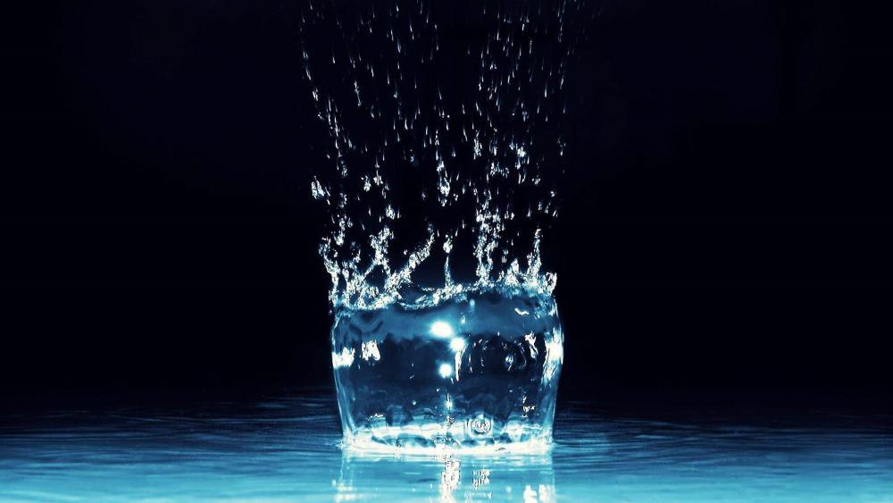 Blue splash wallpaper