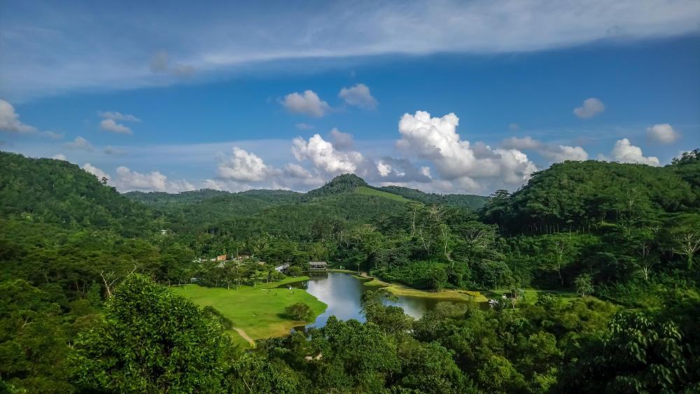 Scenery from a viewpoint wallpaper