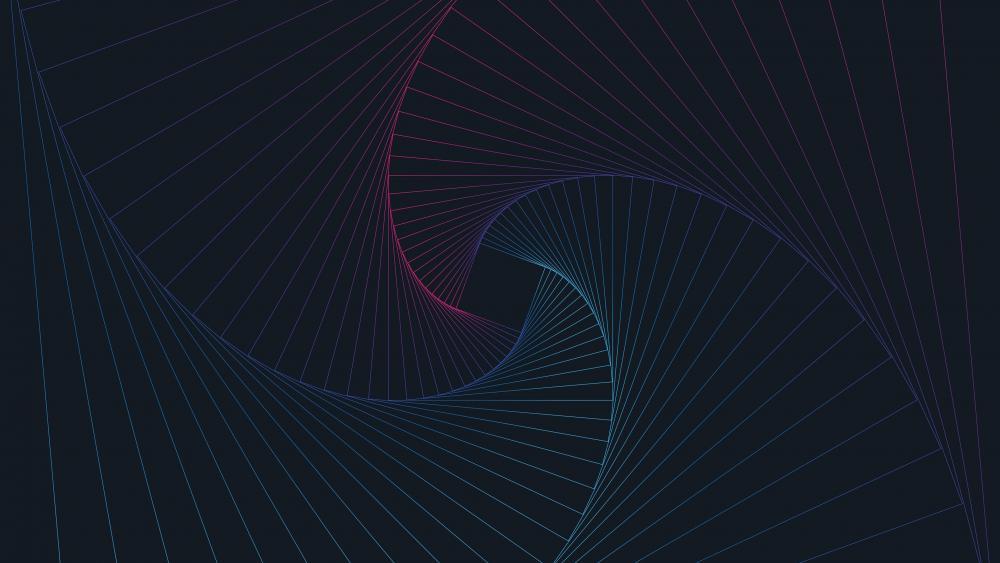 Geometric vortex wallpaper
