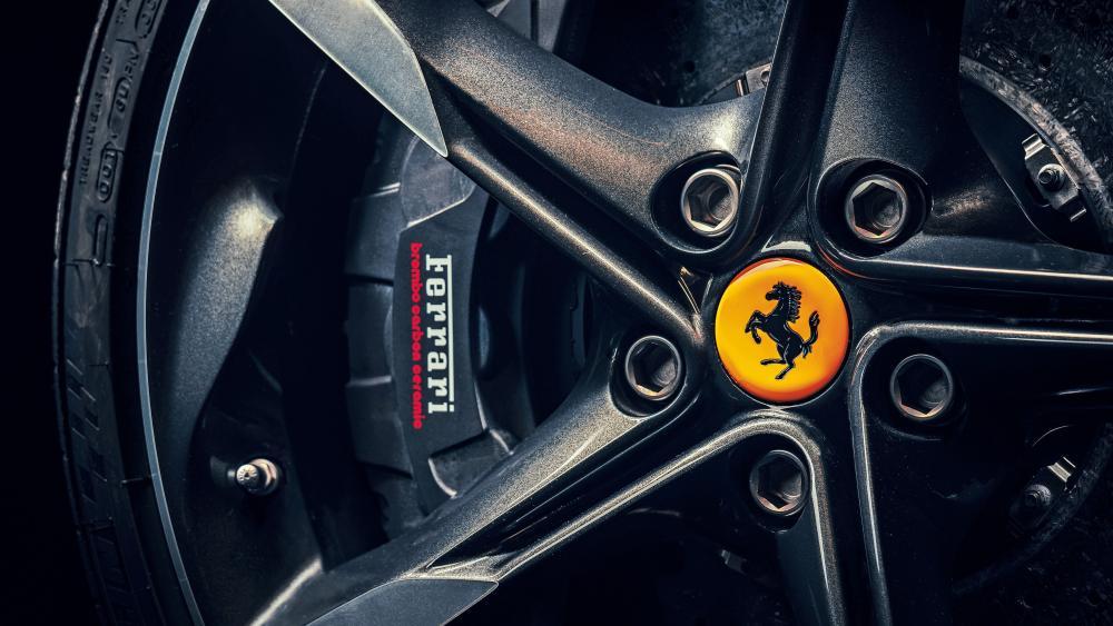 Ferrari wheel wallpaper