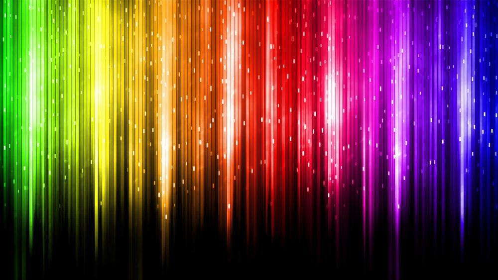 Glowing rainbow colors wallpaper