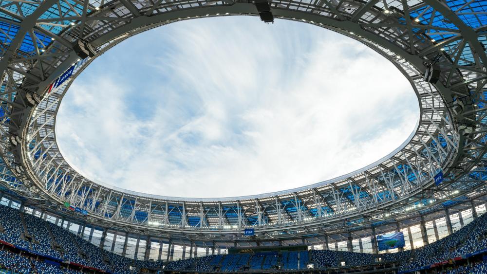 Nizhny Novgorod Stadium Roof Panorama wallpaper
