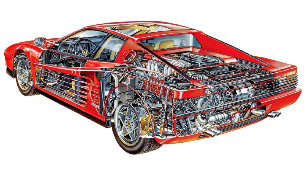 1986 Ferrari Testarossa wallpaper