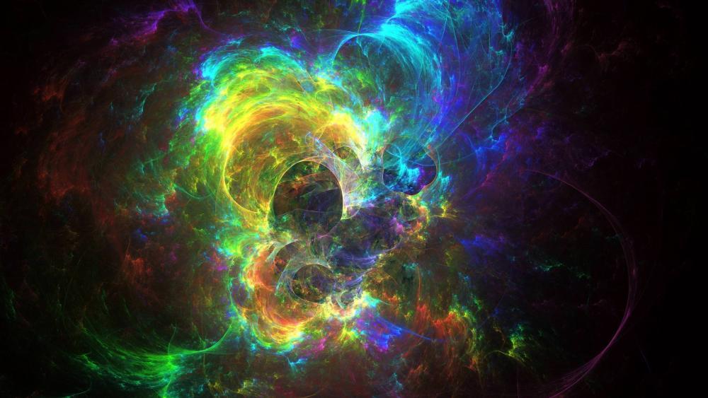 Cosmic abstraction wallpaper