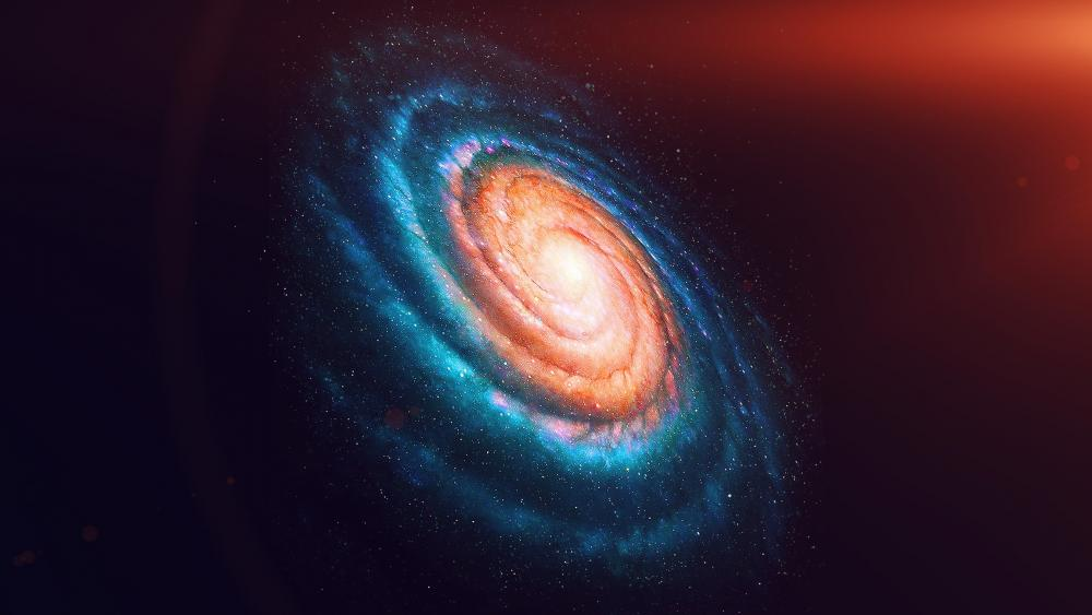 Spiral galaxy in the cosmos wallpaper