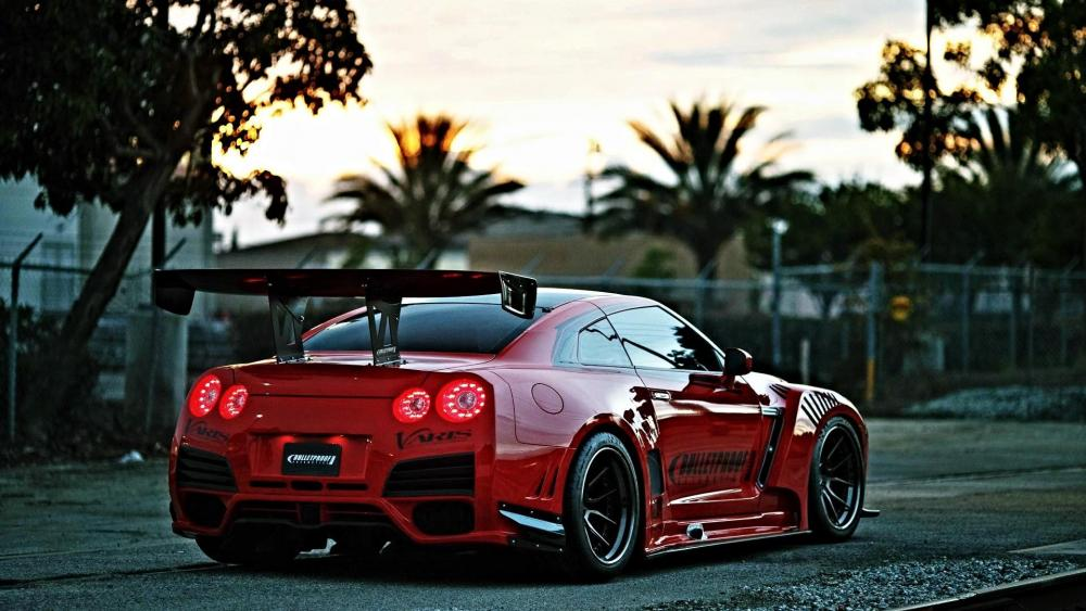 Red Nissan GT-R wallpaper