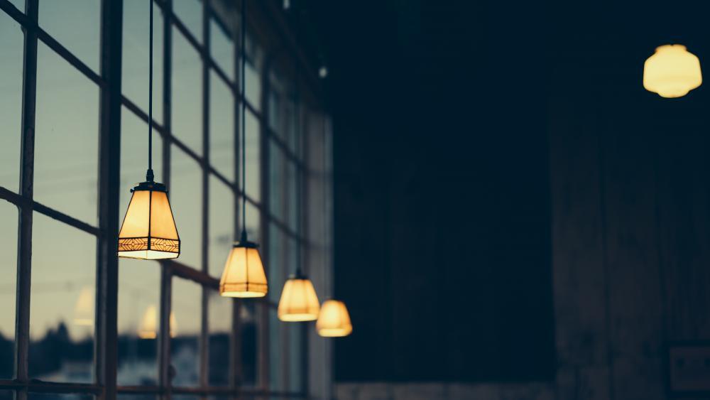 Black Pendent Lamps wallpaper