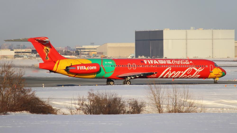 FIFA World Cup Jet at Toronto Pearson International Airport wallpaper