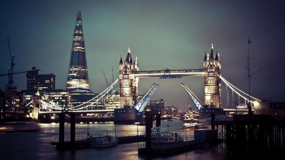 The Shard and the Tower Bridge wallpaper