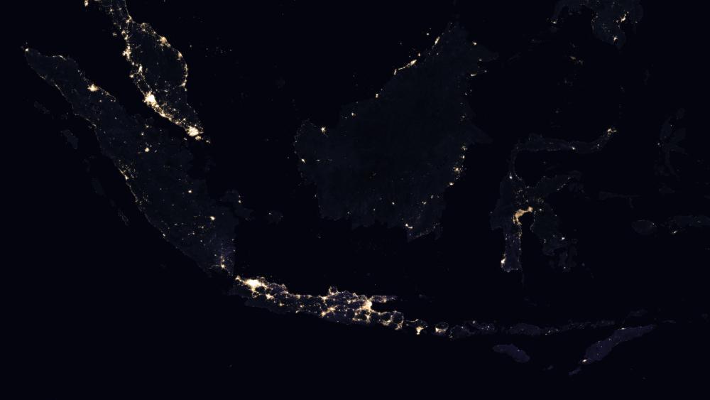 Night Lights of Indonesia & Malaysia 2016 wallpaper