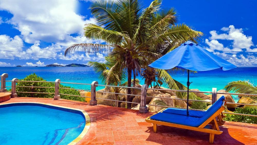 Luxury beach resort wallpaper