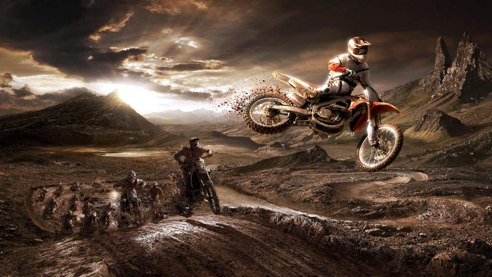 Honda CRF450R, Enduro Motorcycle Desert Racing wallpaper