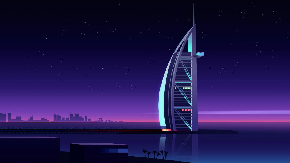 Burj Al Arab fantasy art wallpaper
