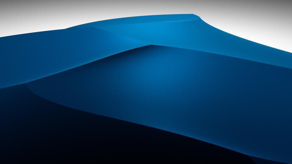 3D blue dunes wallpaper