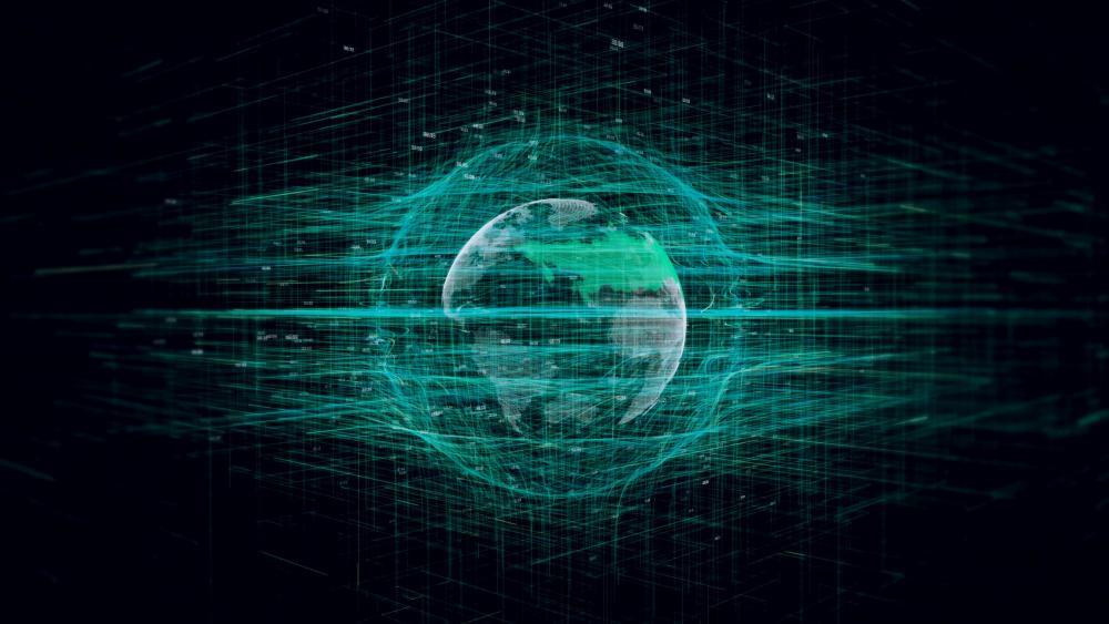 Green globe wallpaper