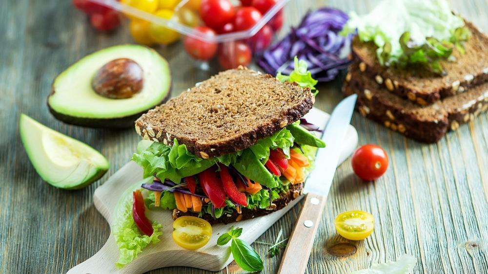 Vegetarian sandwich wallpaper