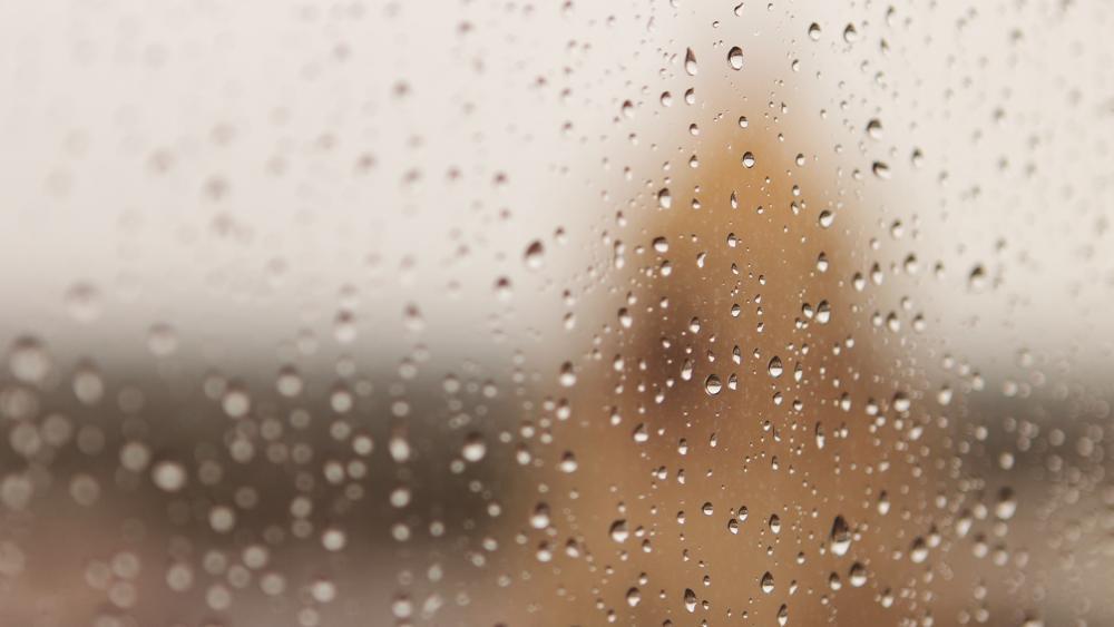 rain drops on wet window wallpaper