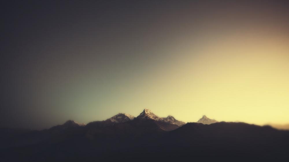 Annapurna Massif minimal wallpaper