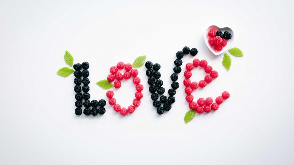 Love gummi candy wallpaper