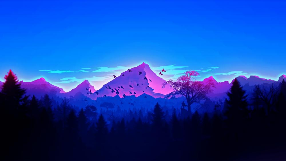 Purple Mountain wallpaper