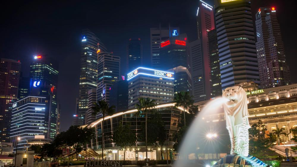 The Merlion in Singapore  wallpaper