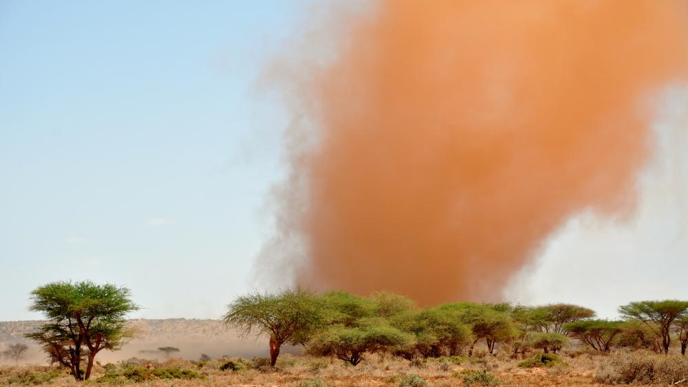 Sandstorm in Somaliland wallpaper