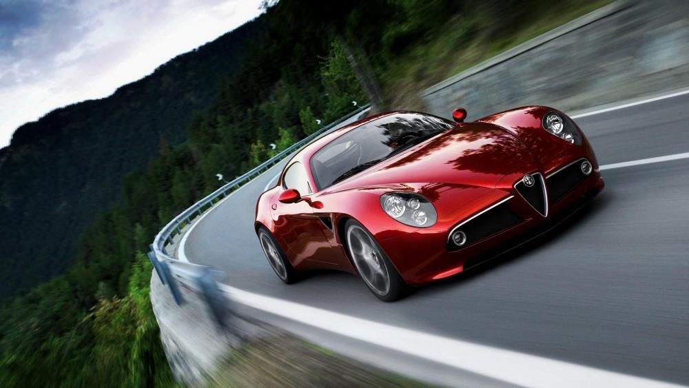 Red Alfa Romeo 8C wallpaper
