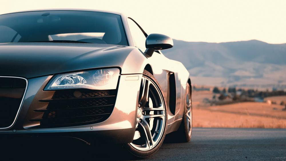 Grey Audi R8 wallpaper