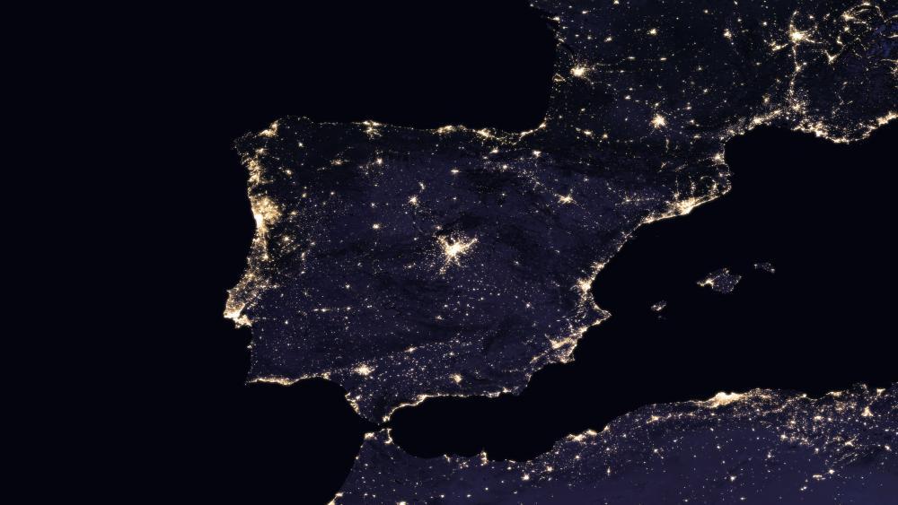 Night Lights of Spain & Portugal 2016 wallpaper