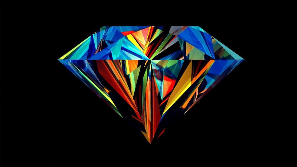 Colored Diamond wallpaper
