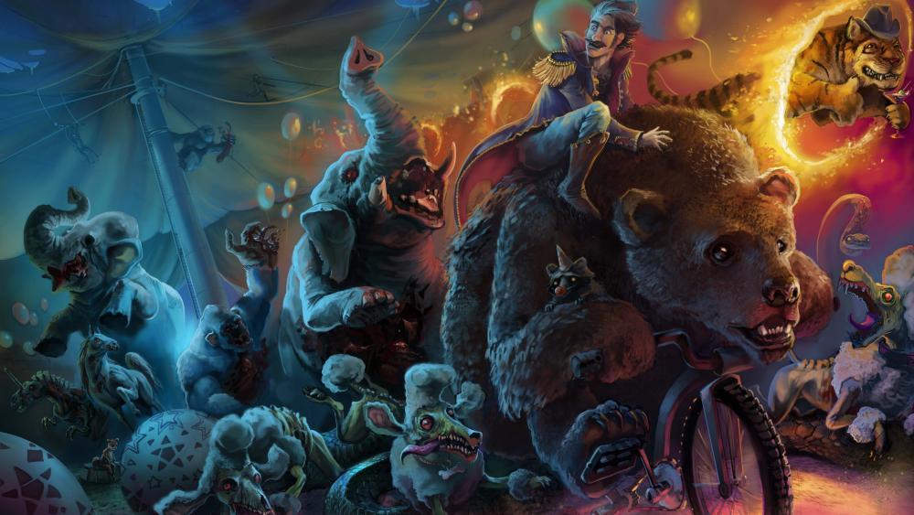 Zombie circus wallpaper