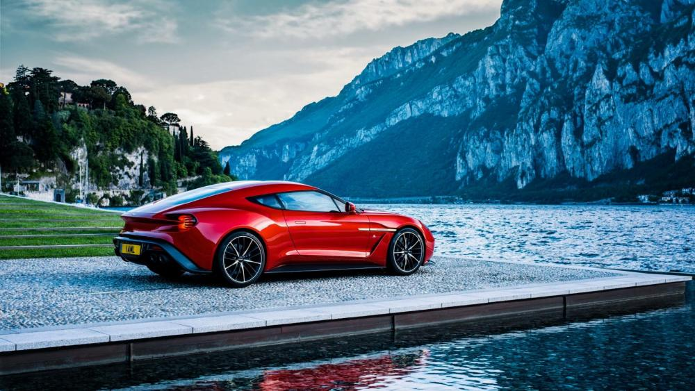 Red Aston Martin Sports Car wallpaper