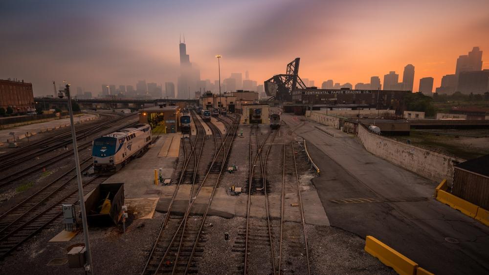 Rails in Chicago wallpaper