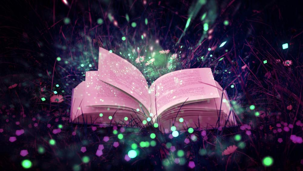 Magical book wallpaper