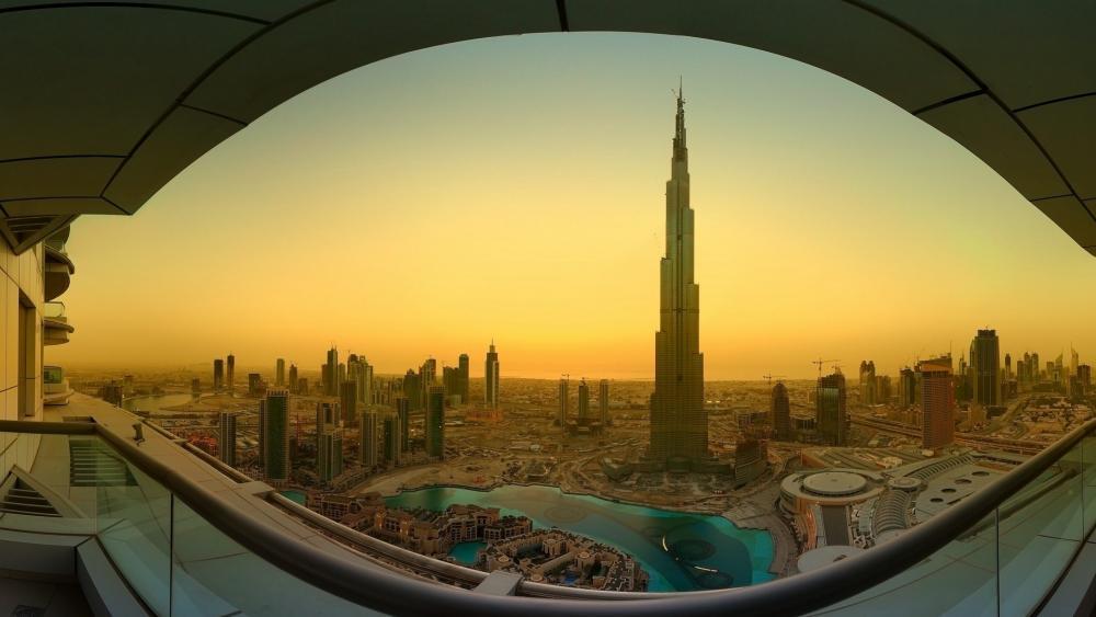 Sunrise View Of Burj Khalifa wallpaper