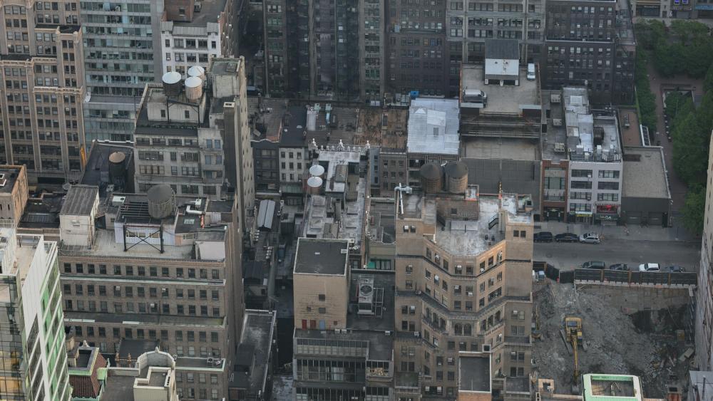 Manhattan Tower Blocks wallpaper