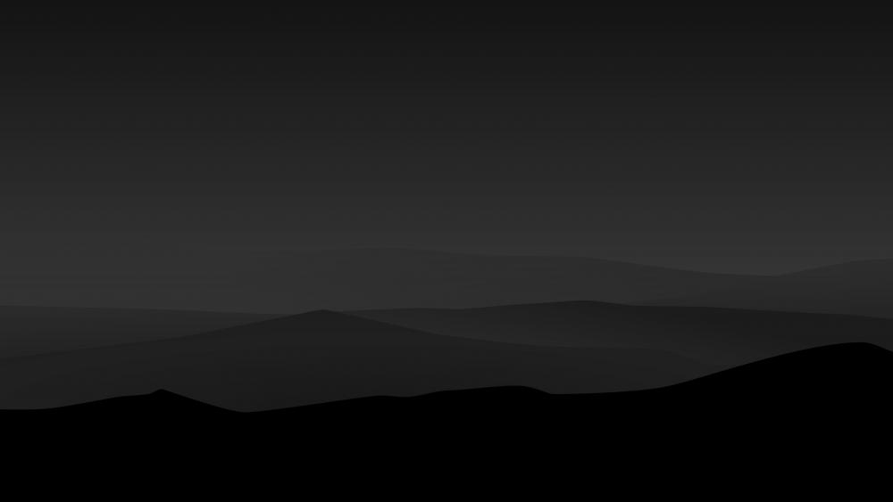 Dark minimal mountains at night wallpaper