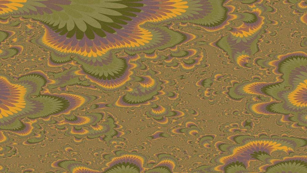 green-golden feathers wallpaper