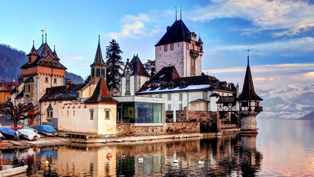 Castle On The Lake wallpaper