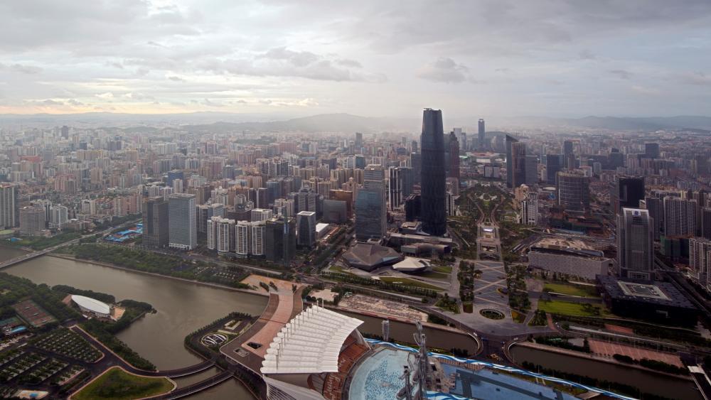 Guangzhou Dusk Panorama wallpaper