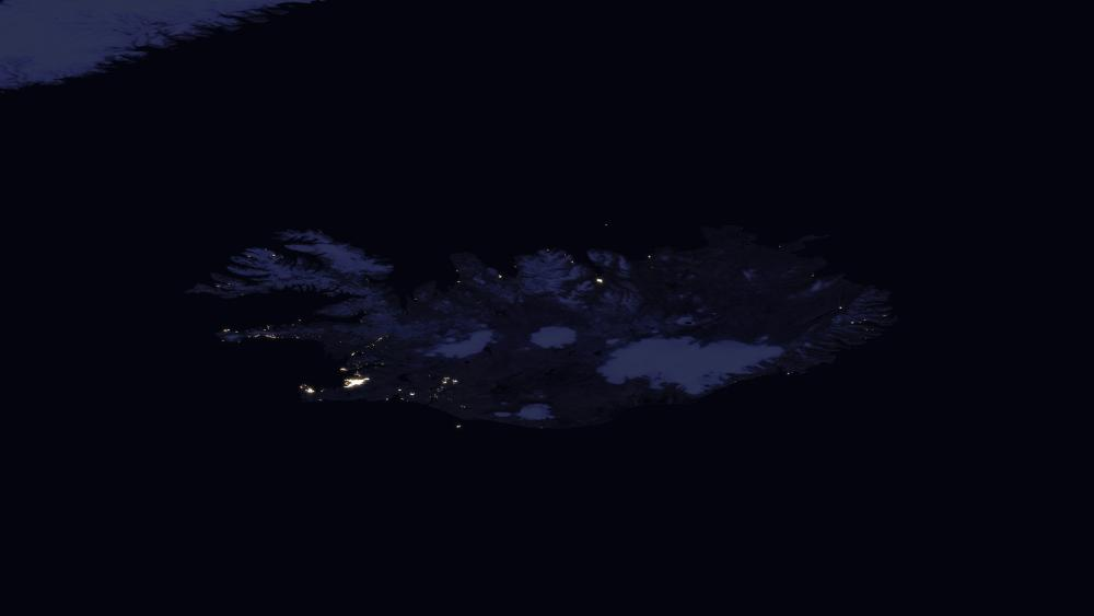 Night Lights of Iceland 2016 wallpaper