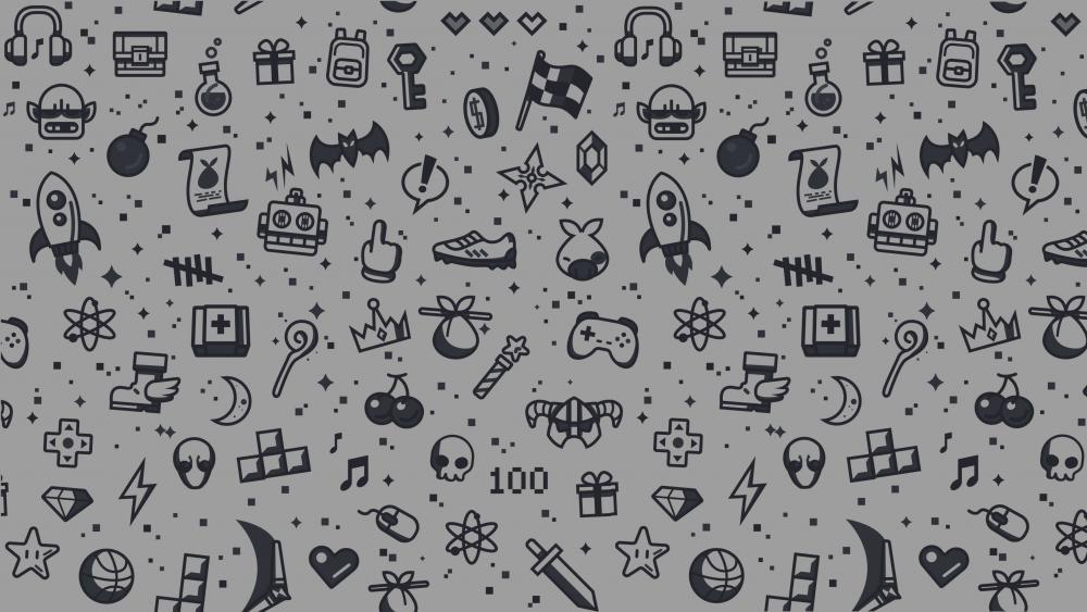 Minimal Gaming White wallpaper