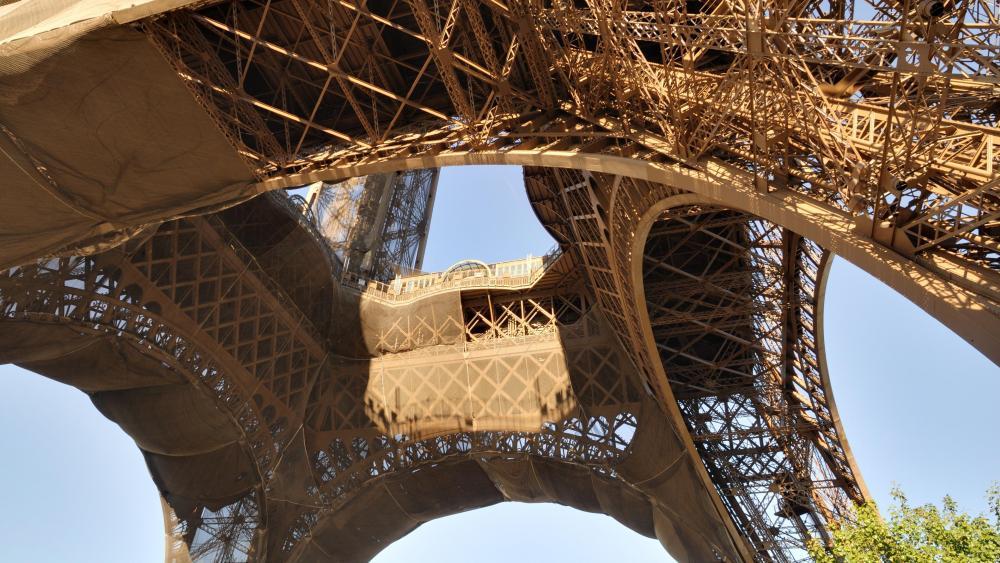 Below the Pillars of the Eiffel Tower wallpaper