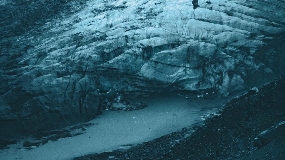 Aerial View of Glacier  wallpaper