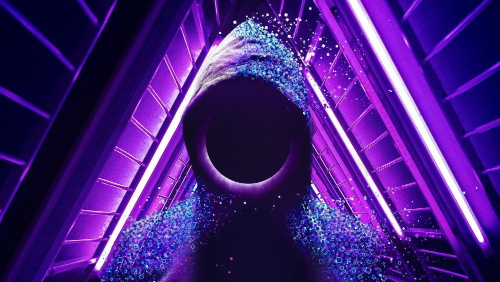 People in Hoodie purple wallpaper