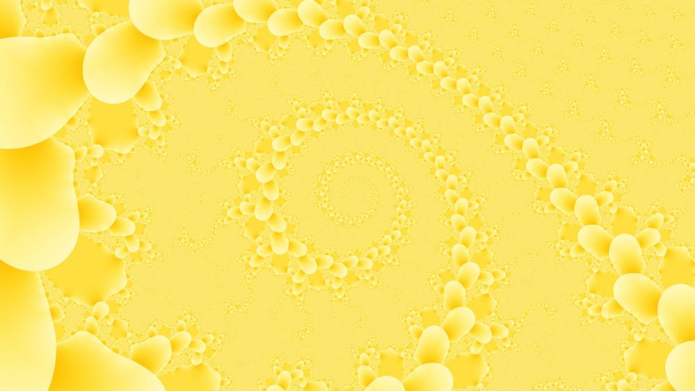 yellow tunnel wallpaper