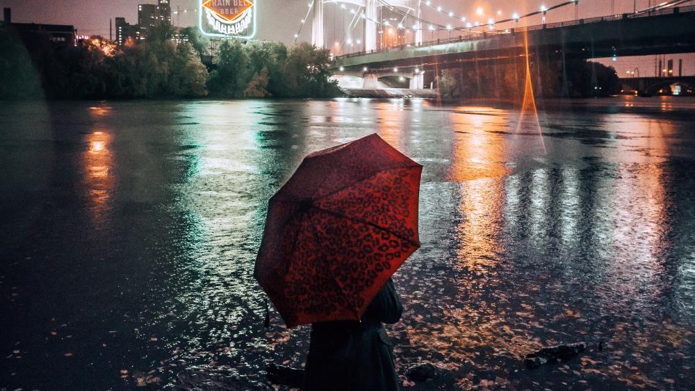 Rainy Minneapolis wallpaper