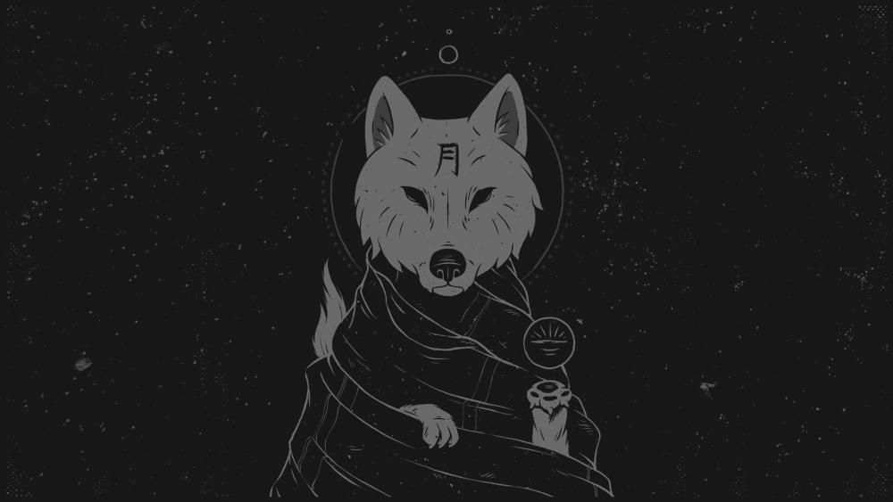 Wise Wolf  wallpaper